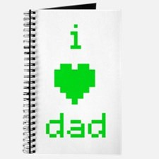 i heart dad (green) Journal