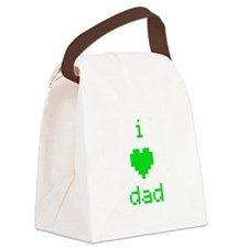 i heart dad (green) Canvas Lunch Bag