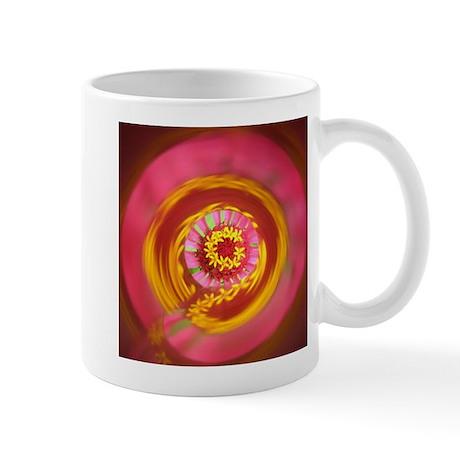 Pink Psychedelic Flower Photo Mug