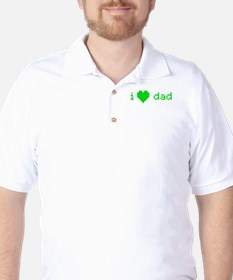 i heart dad (green) T-Shirt