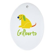 Gilberto Loves Puppies Ornament (Oval)