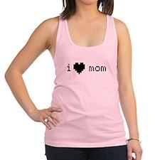 i heart mom (black) Racerback Tank Top