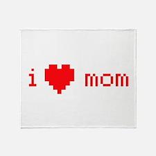 i heart mom (red) Throw Blanket