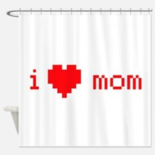i heart mom (red) Shower Curtain