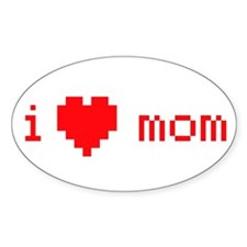 i heart mom (red) Decal