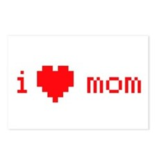 i heart mom (red) Postcards (Package of 8)