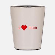 i heart mom (red) Shot Glass