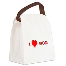 i heart mom (red) Canvas Lunch Bag