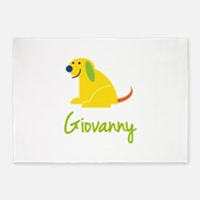 Giovanny Loves Puppies 5'x7'Area Rug
