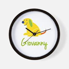 Giovanny Loves Puppies Wall Clock
