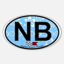 Naples Beach - Oval Design. Sticker (Oval)
