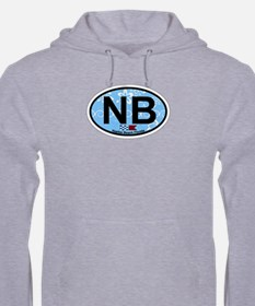 Naples Beach - Oval Design. Hoodie