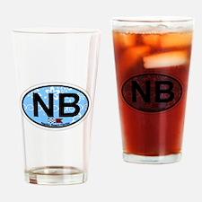 Naples Beach - Oval Design. Drinking Glass