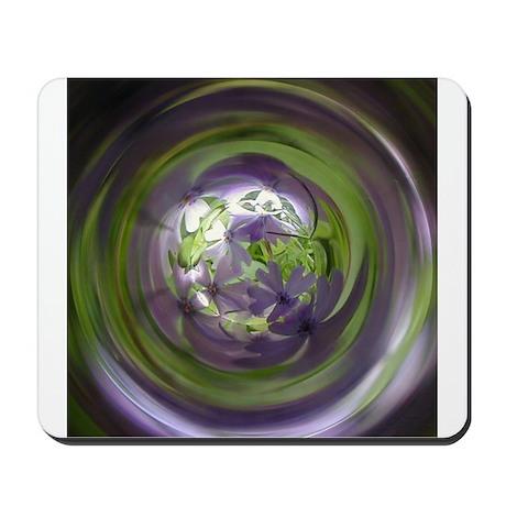Lavendar Green Psychedelic Flowers Organic Photo M