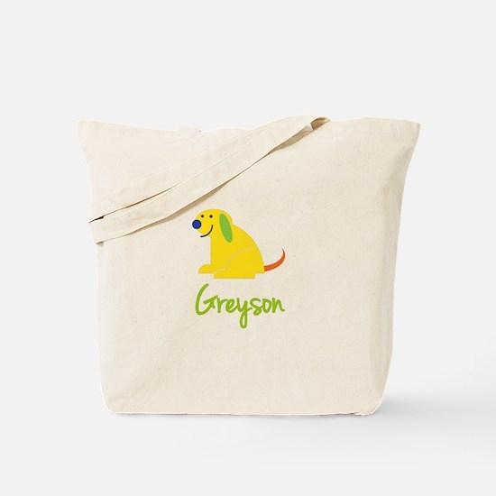Greyson Loves Puppies Tote Bag