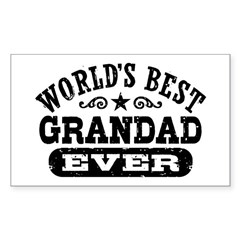 World's Best Grandad Ever Decal