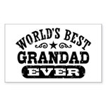 World's Best Grandad Ever Sticker (Rectangle)