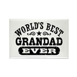 World's Best Grandad Ever Rectangle Magnet