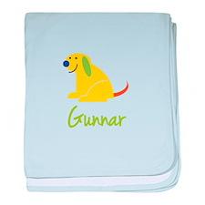 Gunnar Loves Puppies baby blanket