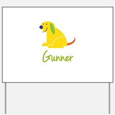 Gunner Loves Puppies Yard Sign