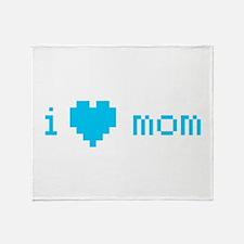 i heart mom (blue) Throw Blanket