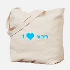 i heart mom (blue) Tote Bag