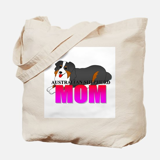 Australian Shepherd Mom Tote Bag