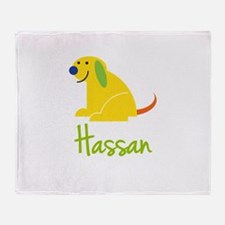 Hassan Loves Puppies Throw Blanket