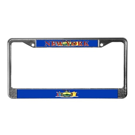 New York Blank Flag License Plate Frame