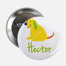 """Hector Loves Puppies 2.25"""" Button"""