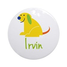 Irvin Loves Puppies Ornament (Round)