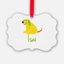 Isai Loves Puppies Ornament