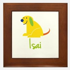 Isai Loves Puppies Framed Tile