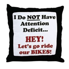Attention Deficit Throw Pillow