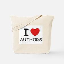 I love authors Tote Bag
