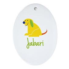 Jabari Loves Puppies Ornament (Oval)