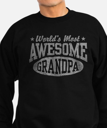 World's Most Awesome Grandpa Sweatshirt (dark)