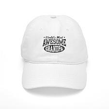 World's Most Awesome Grandpa Baseball Baseball Cap