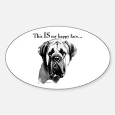 Mastiff 137 Oval Decal