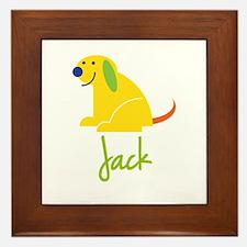 Jack Loves Puppies Framed Tile
