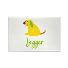 Jagger Loves Puppies Rectangle Magnet