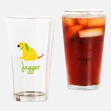 Jagger Loves Puppies Drinking Glass