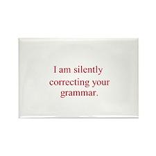 Silent Grammar Rectangle Magnet