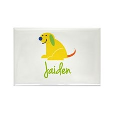Jaiden Loves Puppies Rectangle Magnet