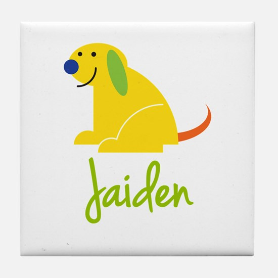 Jaiden Loves Puppies Tile Coaster
