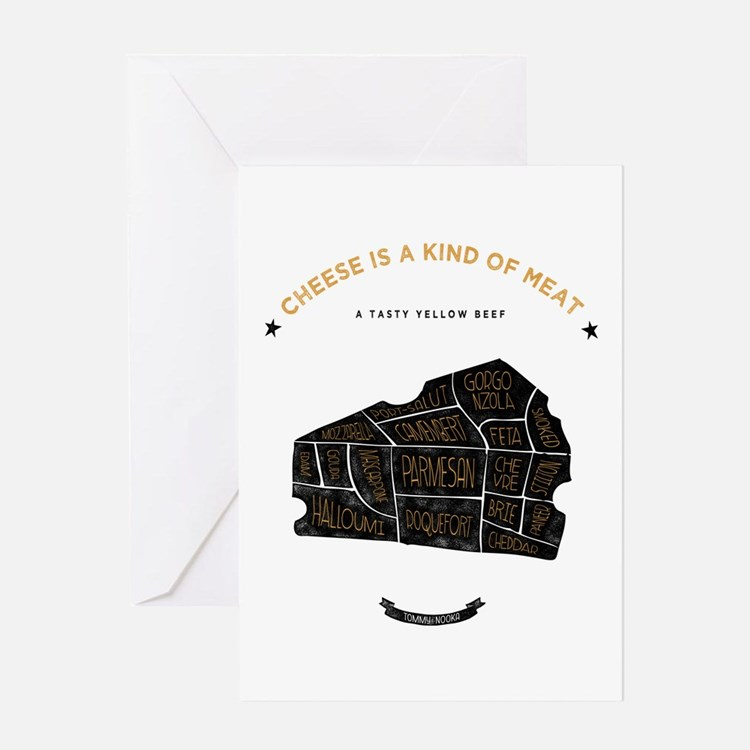 Cheese chart Greeting Card