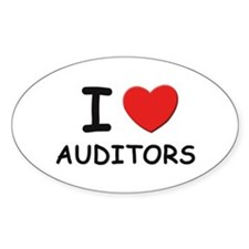 I love auditors Oval Decal
