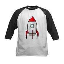 red and white rocket Baseball Jersey