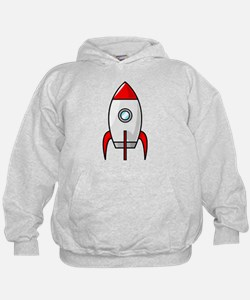 red and white rocket Hoodie