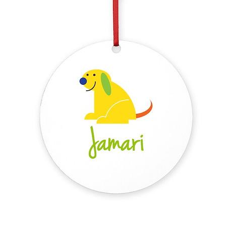 Jamari Loves Puppies Ornament (Round)
